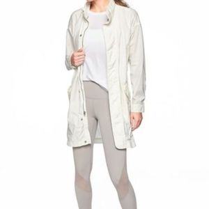 new Athleta Organic Cotton Vista Jacket white SzM